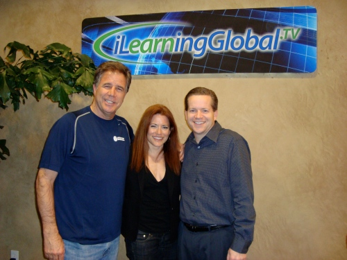 from left, CEO/Founder of iLearningGLobal.tv, me and biz partner/faculty member Boyd Matheson