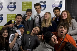 Thats Jesse up top, in the back with volunteers and attendees of NFFTY.