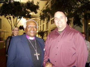 Rob McNealy with Desmond Tutu