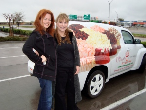 With Malgosia Monje, Co-FOunder (with husband Tony) www.ultimatecupcake.com- BEST CUPCAKES EVER!!!