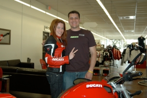 With Joey Martinez, Ducati Austin's GM