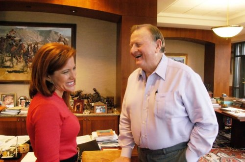 With my mentor in his offices in San Antonio- Red McCombs, Founder of Clear Channel Communications