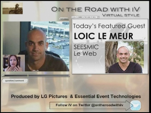 "With Loic LeMeur in ""On The Road with iV"""