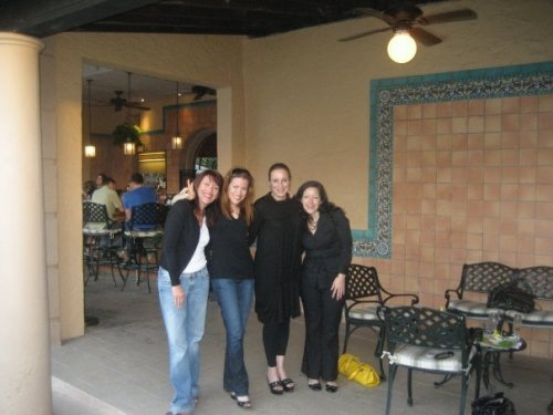 From Left, Jill Brevda, me, Alina Fernandez (Fidel Castro's daughter) and the amazing Joy Dibenedetto from HUM