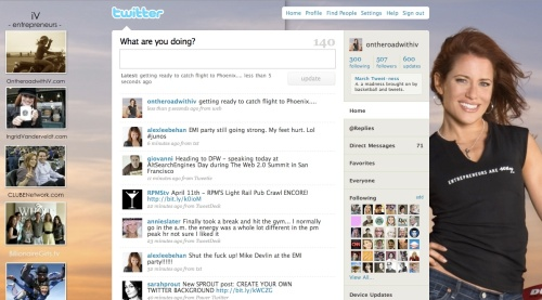 My Twitter Home page thanks to lgpictures.com