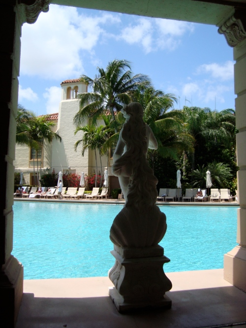 """The view from my """"office"""" at the Biltmore for biz calls this AM"""