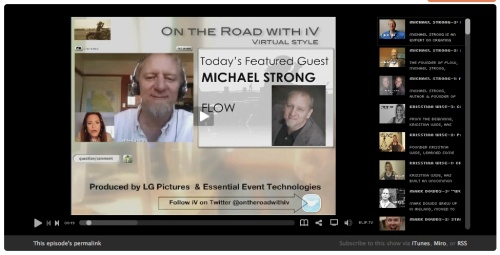 "With Michael Strong, CEO of FLOW in ""On the Road with iV"""