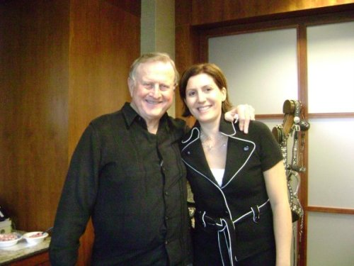 Carrie with self-made billionaire and mentor, Red McCombs (founder of Clear Channel Communications)