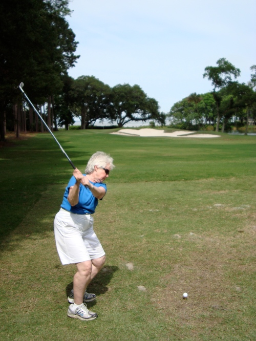 "This was Mom, before she announced..."" I WILL NOT STOP.  I WILL HIT THIS STUPID GOLFBALL""...so thats where some of my perserverence comes from :)"