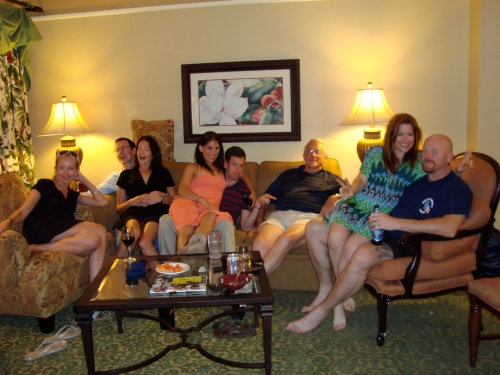 My family :)...(Mom's taking pic)...from left- Erin, Garig, Gina, Jen, Dutch, Dad, me, Glenn
